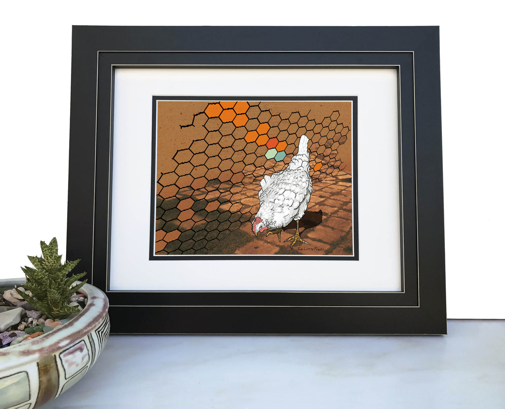 Chicken Art Print, Paper Prints - Two Little Fruits