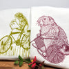 Frog and Marmot Tea Towel Set-Tea Towels-Two Little Fruits