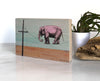 Walk the Line Elephant Small Shelf Art, Art On Wood - Two Little Fruits
