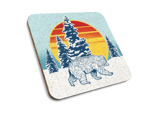 Winter Bear Cork Coaster-Coasters-Two Little Fruits