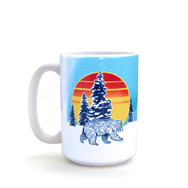 Winter Mountain Bear 15 Oz. Coffee Mug, Mug - Two Little Fruits