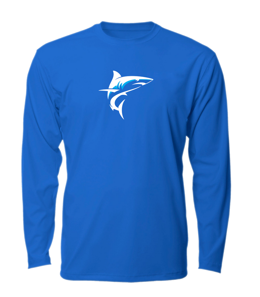 Tournament Mako LS Mens Performance Fishing Shirt - Royal Blue