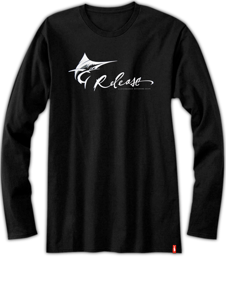 Mens Fishing Shirt  - Pro Marlin LS - Black