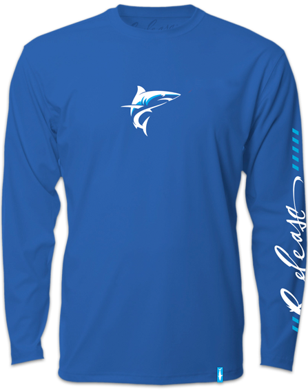 Release Tournament Mako Long Sleeve - Royal Blue Fishing Shirt