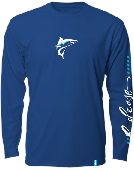 Release Tournament Mako Long Sleeve - Navy Blue  Fishing Shirt