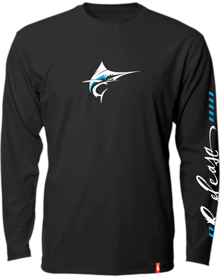 Release Tournament Marlin Long Sleeve - Black Fishing Shirt