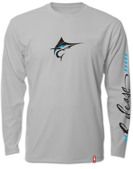 Release Tournament Marlin Long Sleeve - Smoke Fishing Shirt