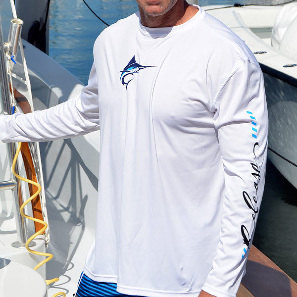 Release Tournament Marlin Long Sleeve - White Fishing Shirt