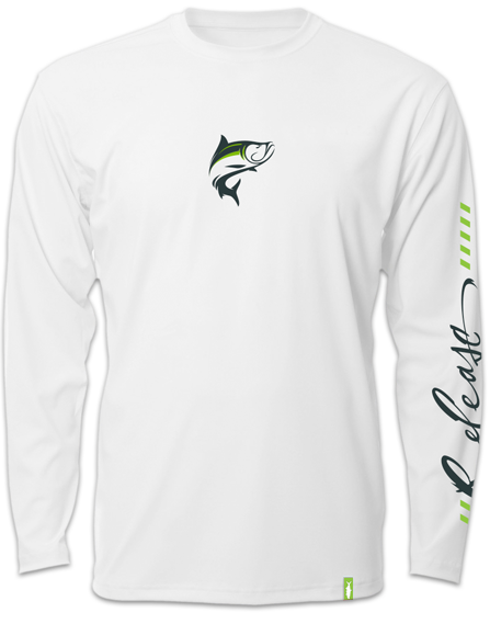 Release Tournament Tarpon Long Sleeve - White Fishing Shirt