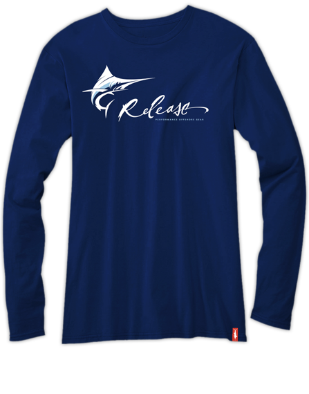 Mens Fishing Shirt  - Pro Marlin LS - Navy Blue