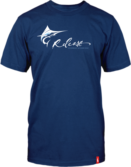 Mens Fishing Shirt  - Pro Marlin SS - Navy Blue