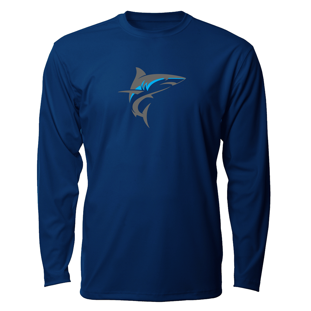 Tournament Mako LS Performance Fishing Shirt - Navy Blue
