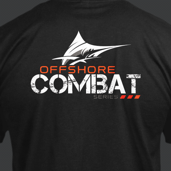 Mens Fishing Shirt  - Offshore Combat Marlin SS - Black