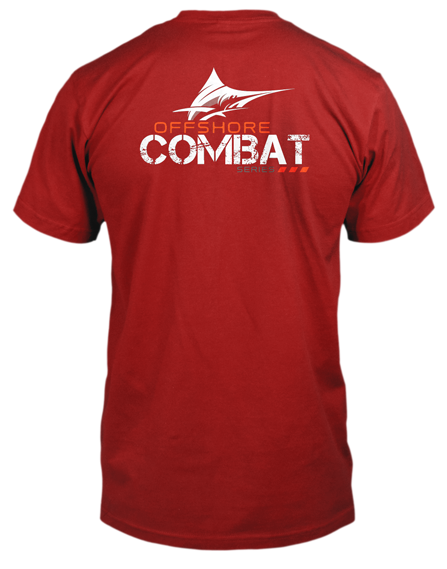 Mens Fishing Shirt  - Offshore Combat Marlin SS - Red