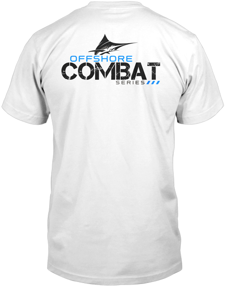 Mens Fishing Shirt  - Offshore Combat Marlin SS - White