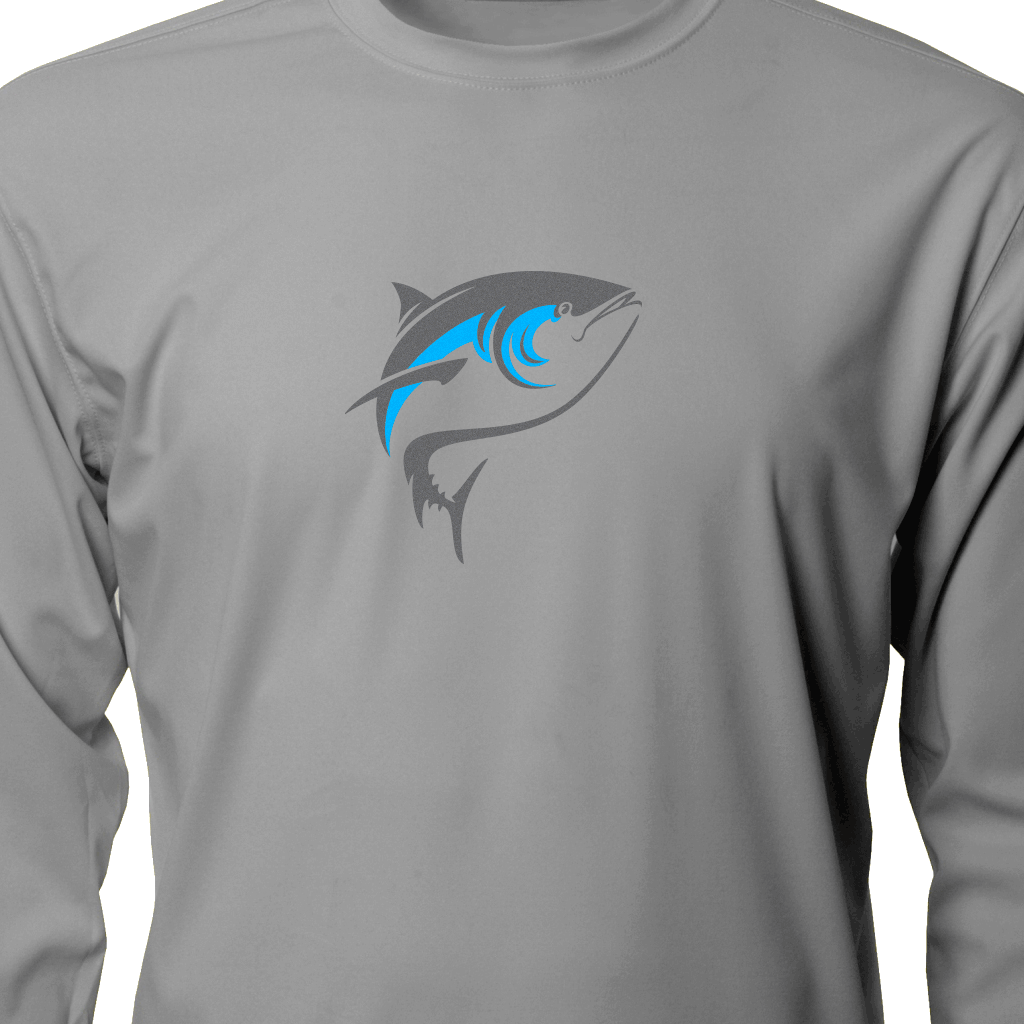 Born Offshore Tournament Bluefin Long Sleeve - Mens Fishing Shirt UPF 50