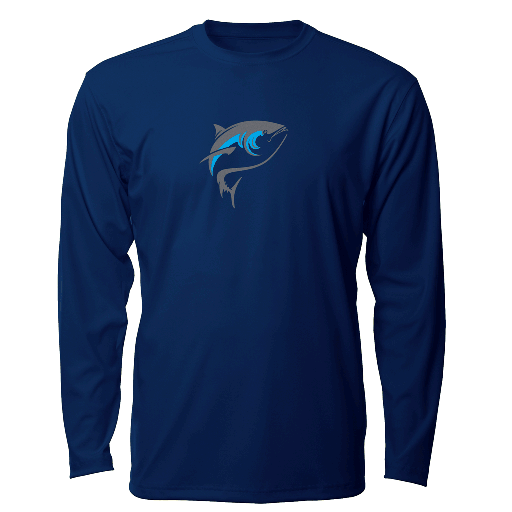 Born Offshore Tournament Bluefin Long Sleeve - Mens Fishing Shirt