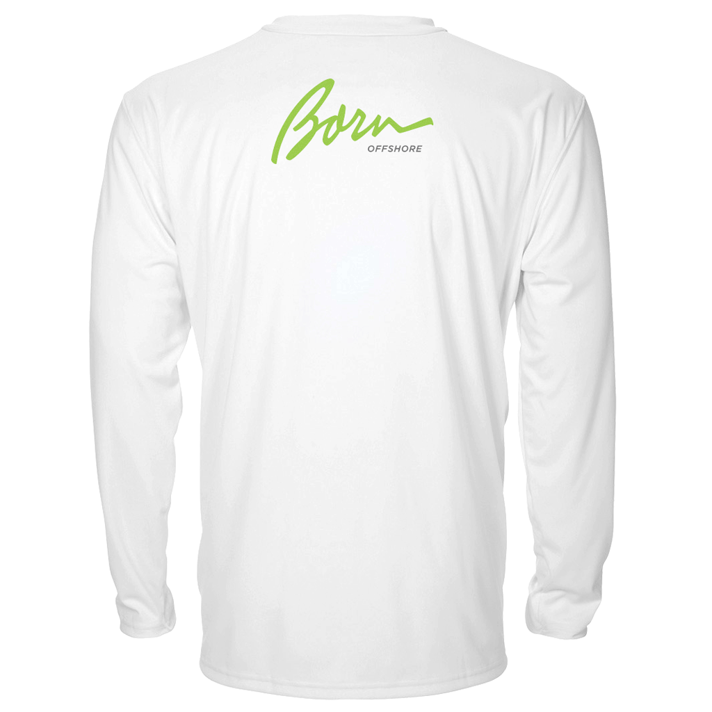 Born Offshore Tournament Tarpon Long Sleeve - Mens Fishing Shirt UPF 50