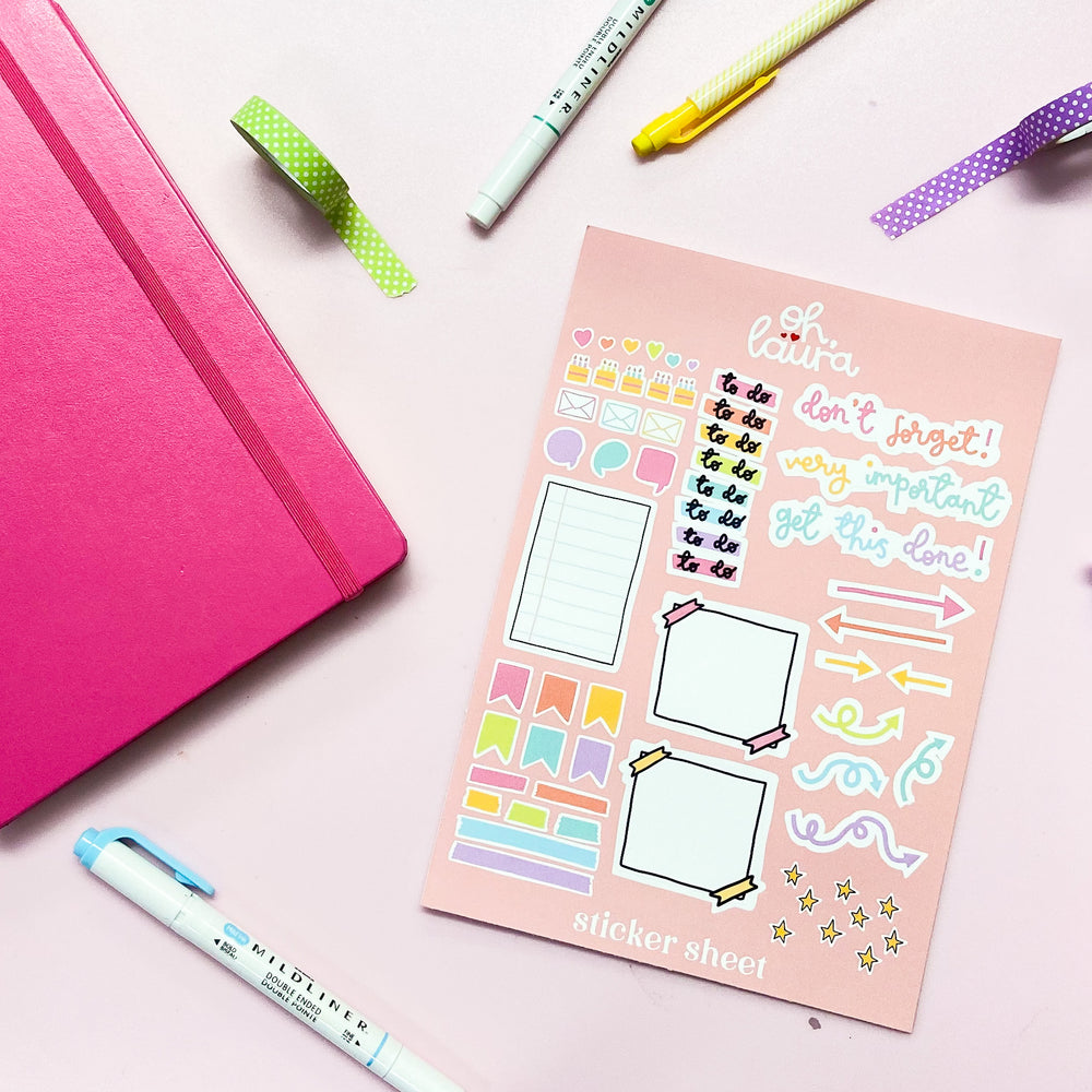 Sticker Sheet - Daily Planner - Oh, Laura