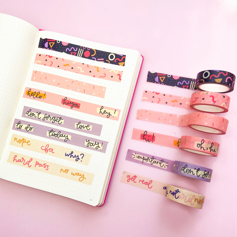 Washi Tape - Can't Be Arsed - Oh, Laura