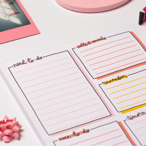 A5 Notepad - Daily Planner - Oh, Laura
