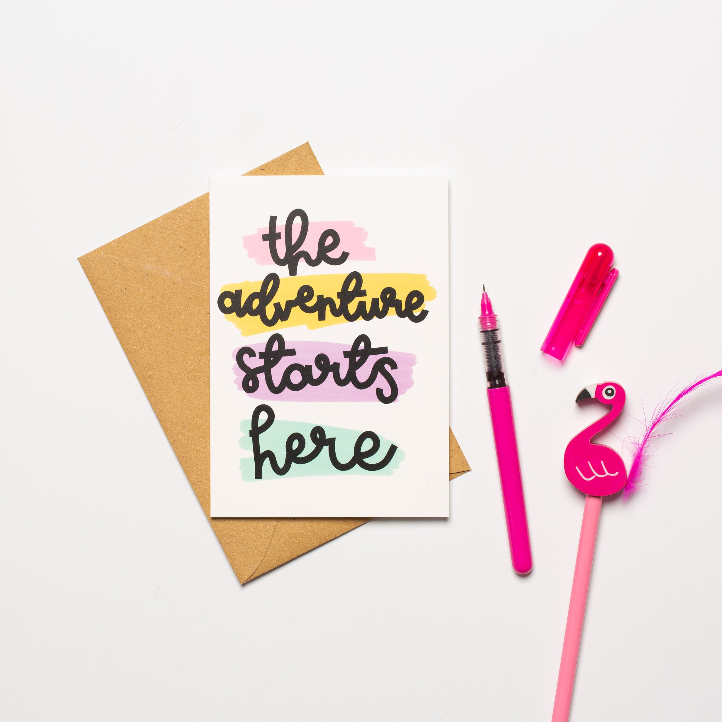 'The Adventure Starts Here' Card - Oh, Laura