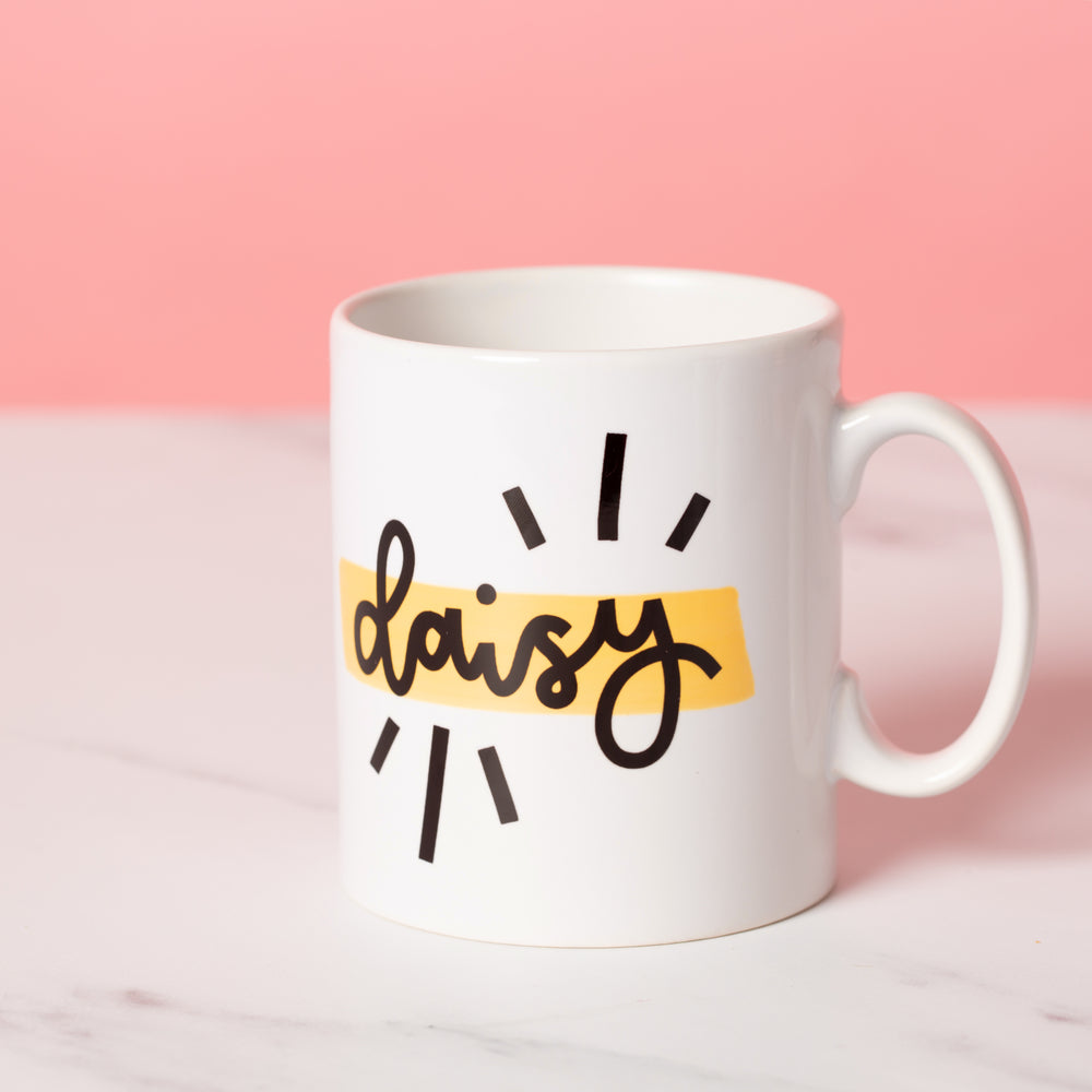 Personalised Handwritten Mug - Choice of Colour - Oh, Laura