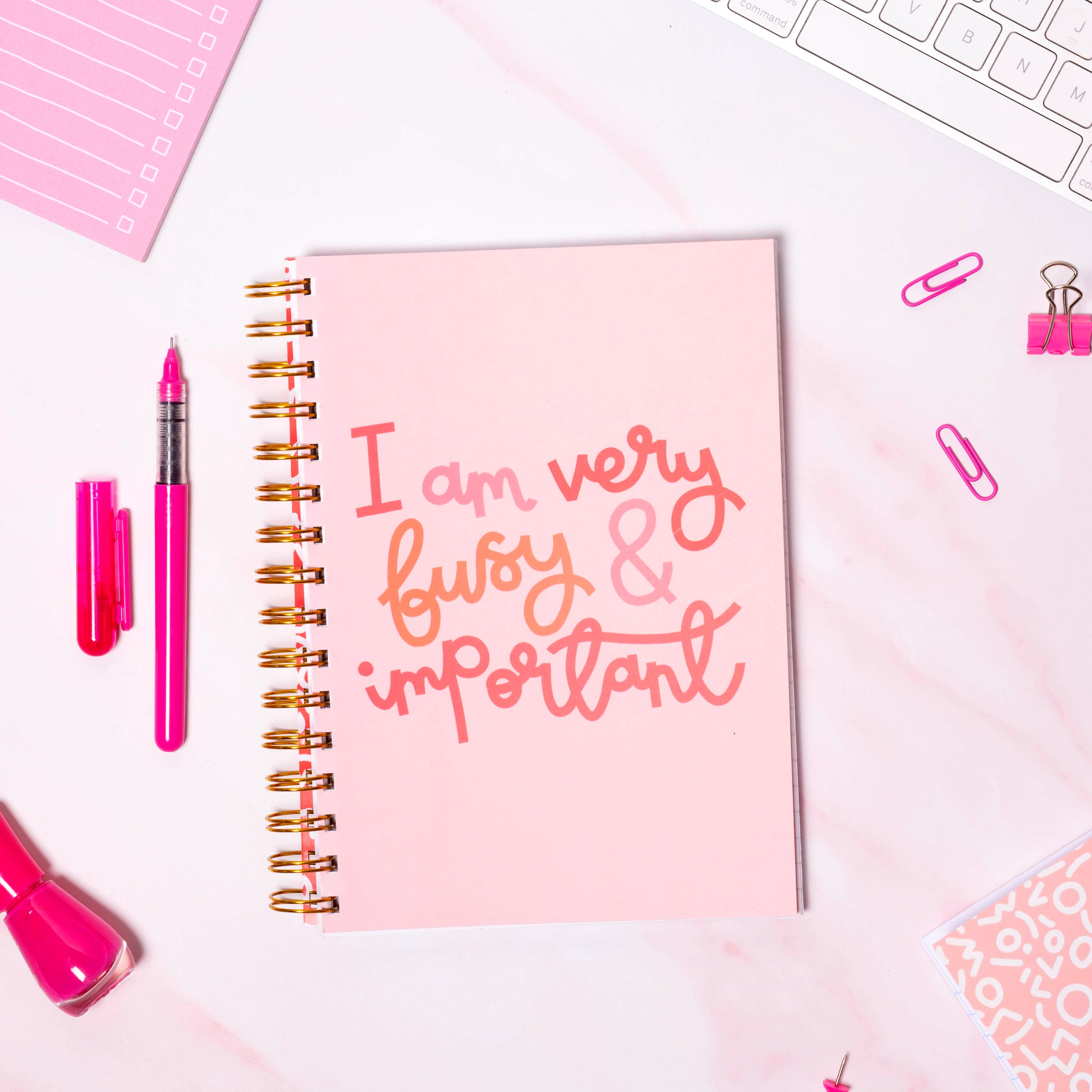 Notebook - I Am Very Busy & Important - Oh, Laura
