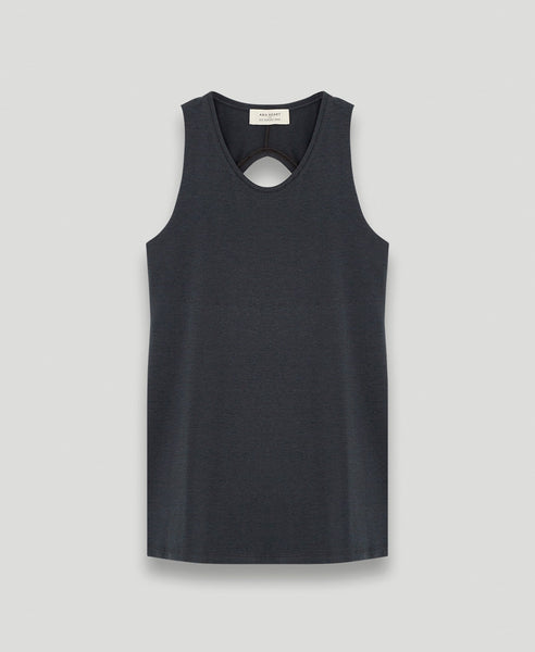 Open back tee              Paradise                            Carbon
