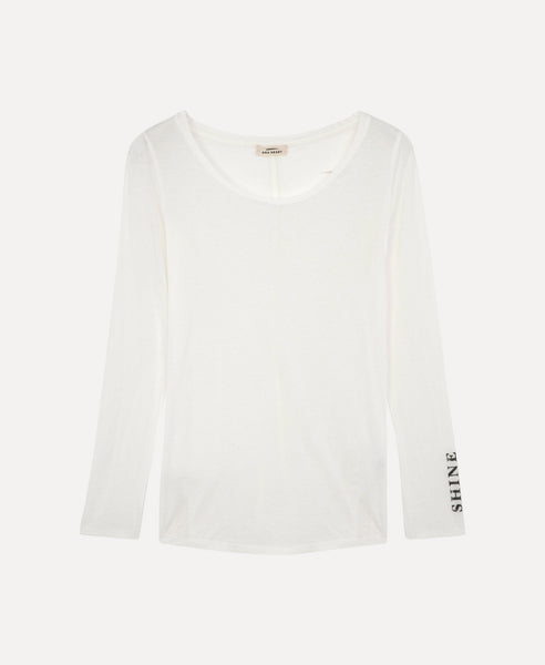 Over long sleeves t-shirt                    Moore                                        Blanc
