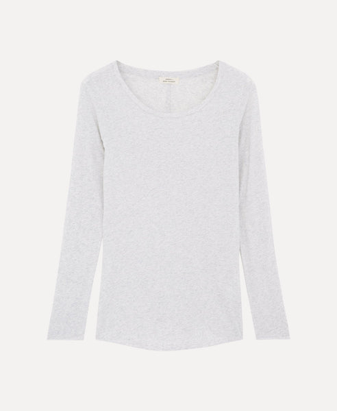 Over long sleeves t-shirt              Moore                            Gris chiné clair