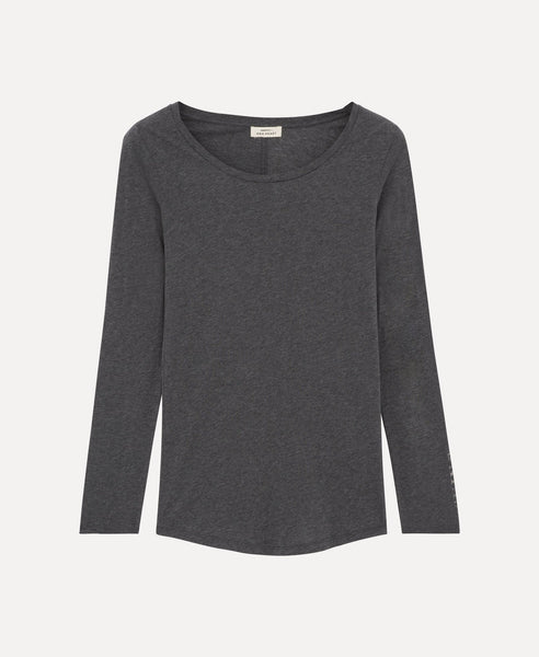 Over long sleeves t-shirt              Moore                            Grau meliert anthrazit
