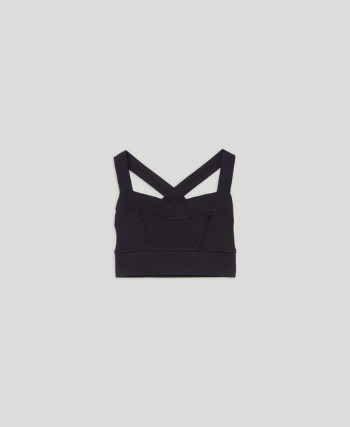 Sports bra with medium support                    Easy                                        Black