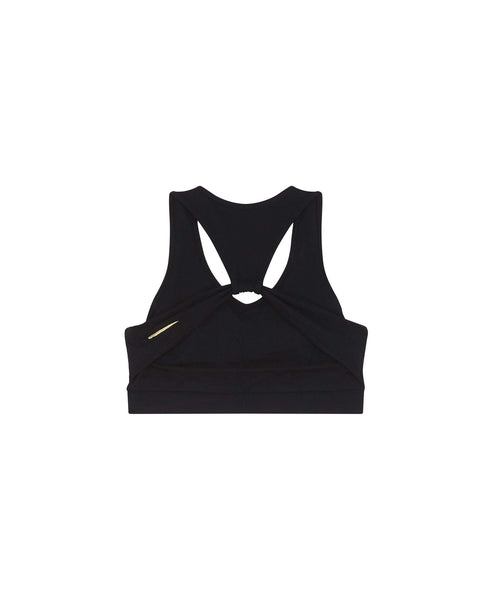 Sports bra with cut out back                    Katy                                        Black