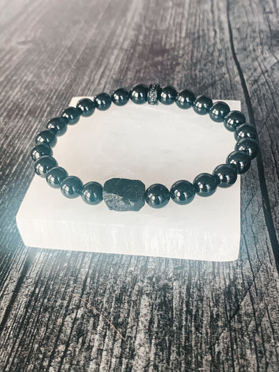 black tourmaline bracelet emf protection jewelry