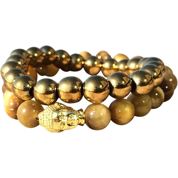 Golden Buddha Bracelet Set