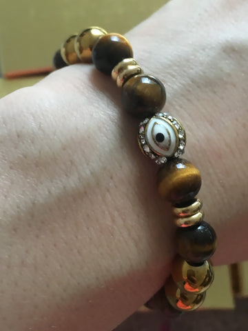 gold evil eye bracelet etsy