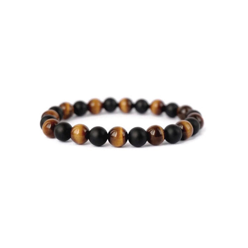 Roman Bracelet - Black Agate and Tiger Eye