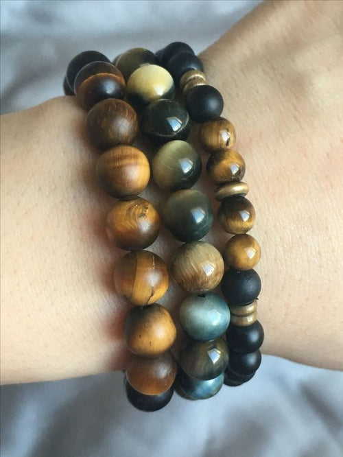 Tres Tiger Eye Set