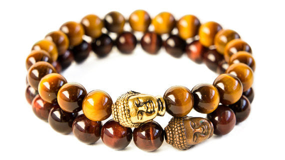 Tiger Eye Buddha Head Set