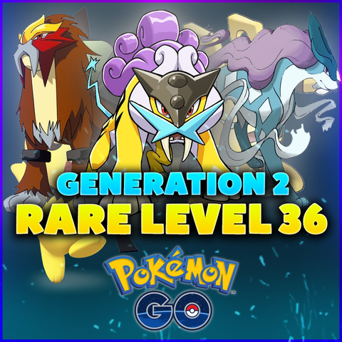 RARE LEVEL 36 Pokemon GO Account - GENERATION 2