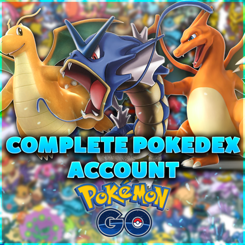 COMPLETE POKEDEX ACCOUNT - LEVEL 30