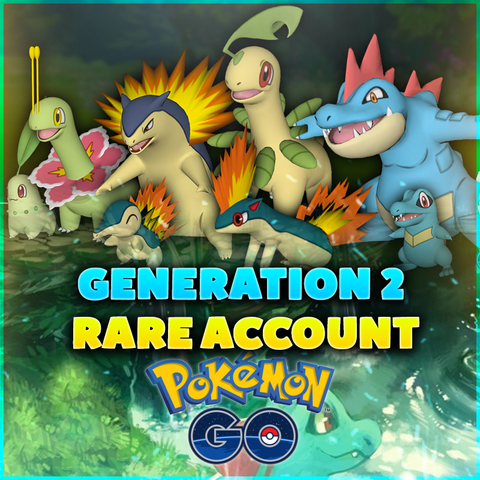 RARE Pokemon GO Account - GENERATION 2