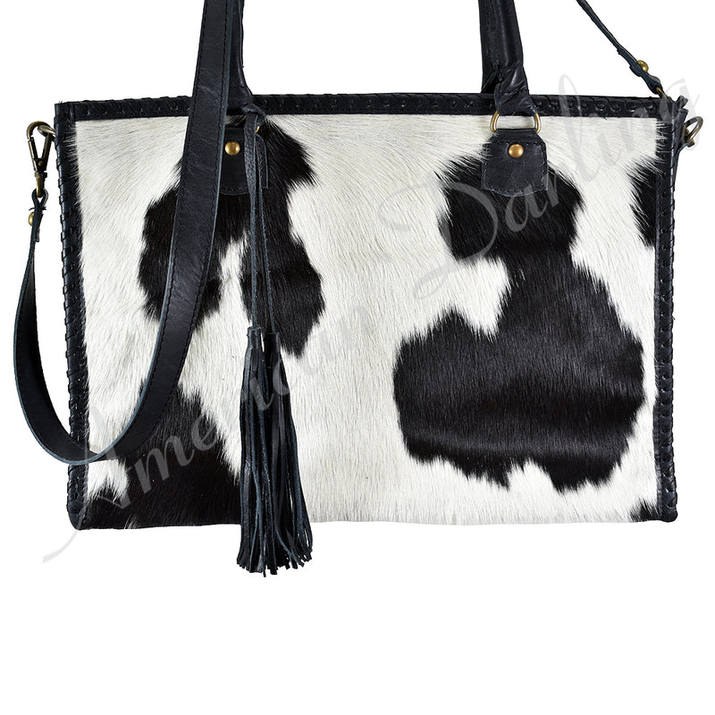 AMERICAN DARLING CARRY CONCEAL BLACK AND WHITE TOTE