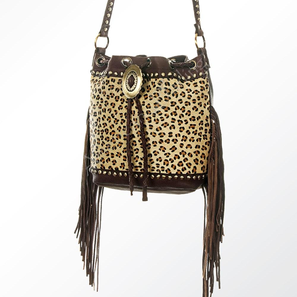 AMERICAN DARLING LEOPARD BUCKET BAG