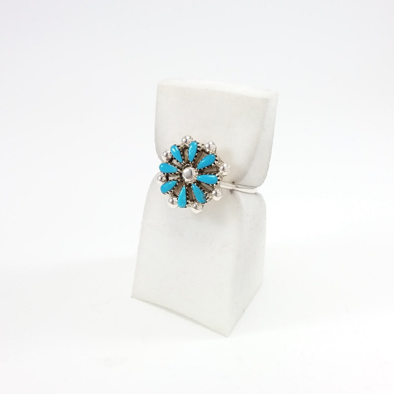 Flower Needlepoint Ring