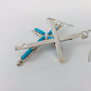 Jaylene Bellson Turquoise Cross Earrings