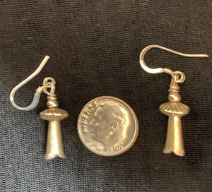 Navajo Silver Squash Blossom Earrings