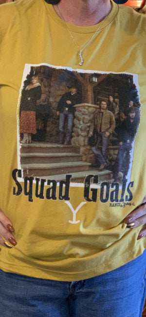 YELLOWSTONE SQUAD GOALS TEE
