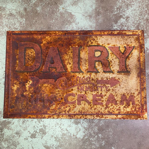 "Dairy Milk / Cream - Certified Quality "" Advertising Metal Sign"